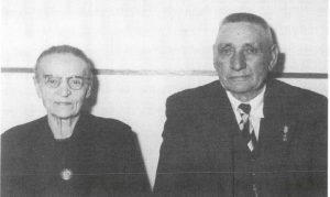 Machinist Aart Dolman en zijn echtgenote