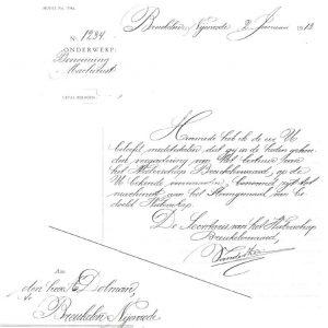benoemingsbrief van de heer A. Dolman